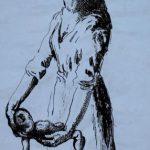 Horrors of War, Motherhood. Artist Mervyn Peake. Document reference: INF 3/649.