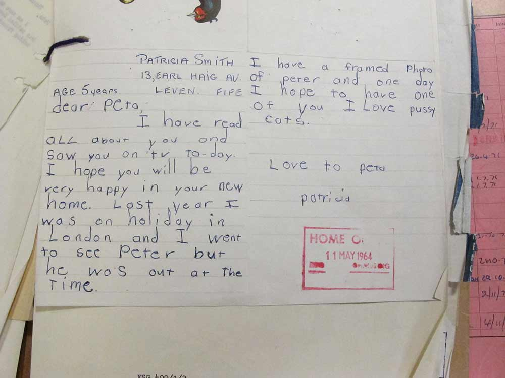 Image of Patricia Smith's first letter to Peta