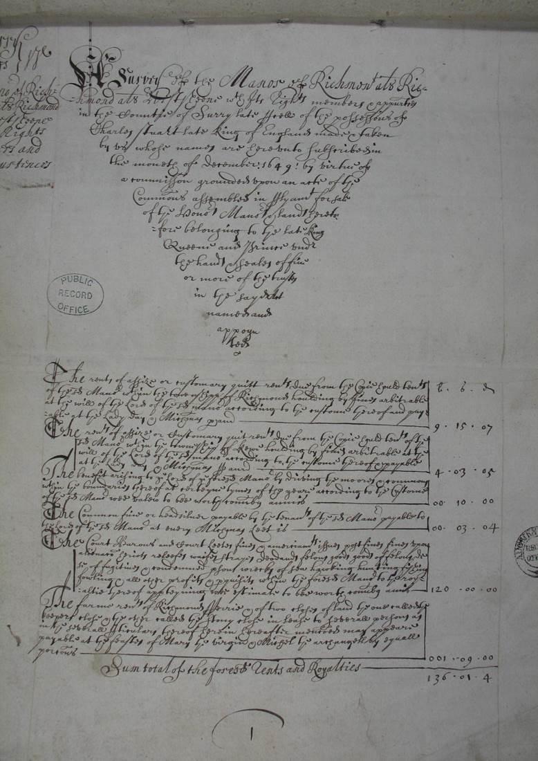 An image of a handwritten survey