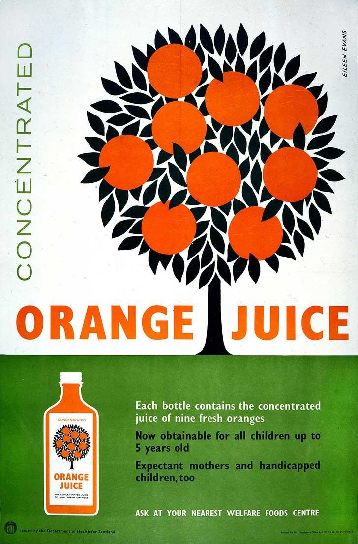 Image of a poster advertising orange juice