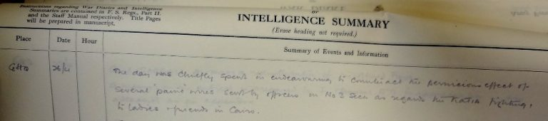 GHQ Intelligence Summary, 26 April 1916 (catalogue reference: WO 157/703)