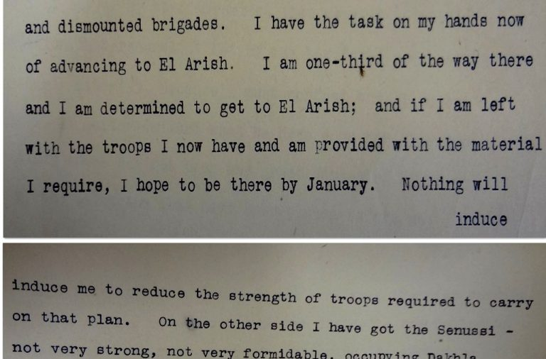 Murray's declaration at the Conference to discuss the Hedjaz Question, 12 September 1916 (catalogue reference: WO 158/602)
