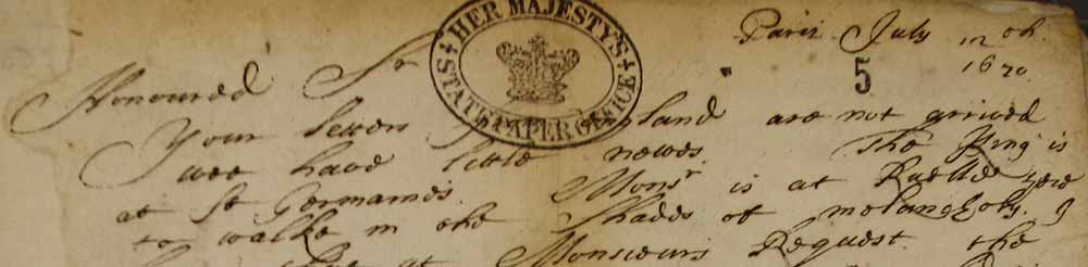 Image of an extract from a letter from Francis Vernon