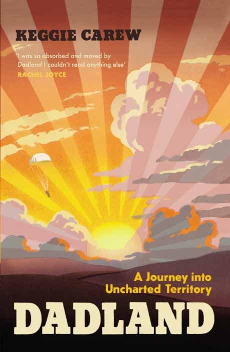 Image of the front cover of 'Dadland', which features an illustrated sunset
