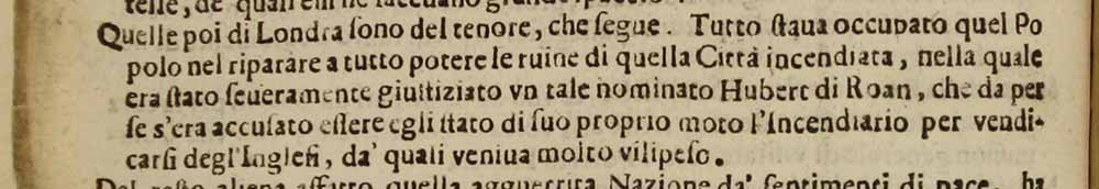 Image of an extract from Venice gazette