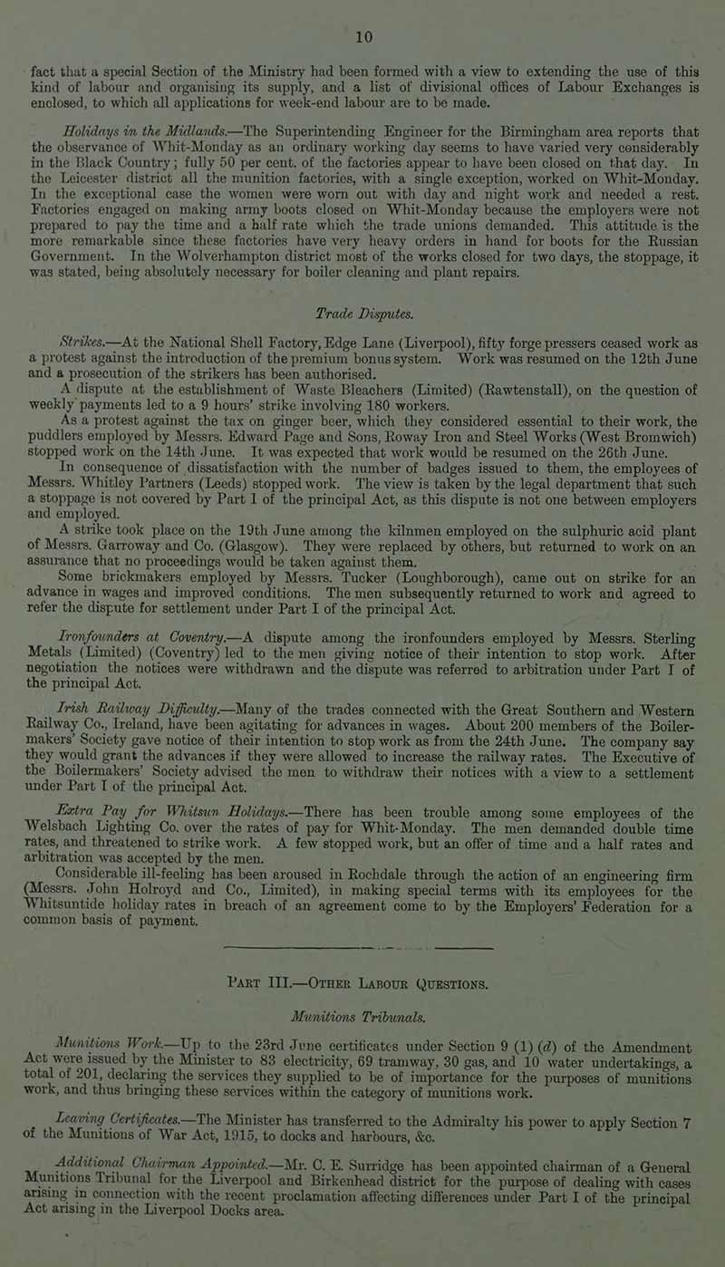 Image of a typed report detailing trade disputes