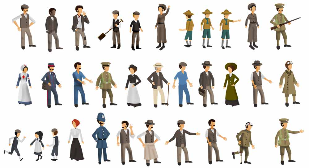 Image of the 33 characters of Great Wharton