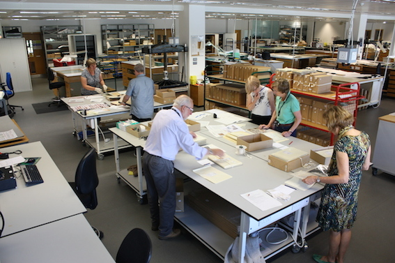 Image of team of volunteers working on the project.