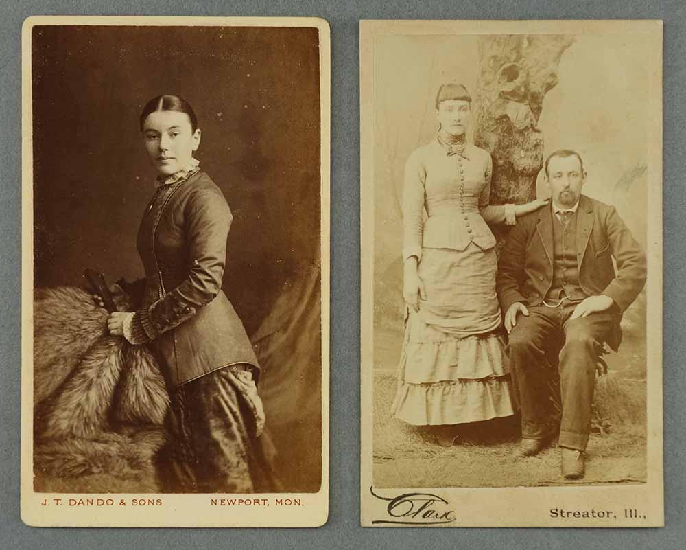 Two 'cartes de visite' (albumen photographs from author's collection)