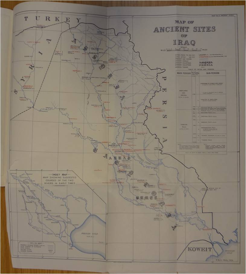 Map of ancient sites of Iraq (catalogue reference: FO 925/41384)