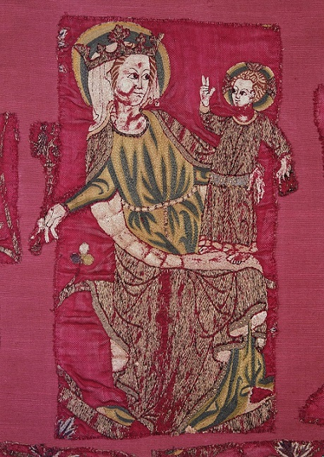 Detail from the Jesse Cope (c.1310-25), showing the Virgin Mary and Child © Victoria and Albert Museum, London