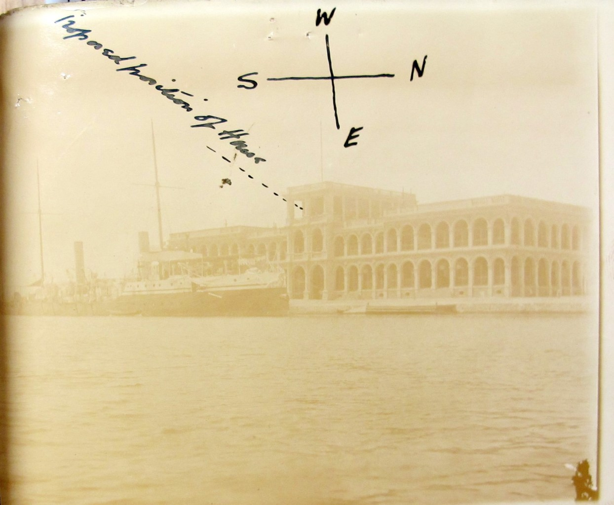 Image of a photograph showing the location of pigeon loft Port Said