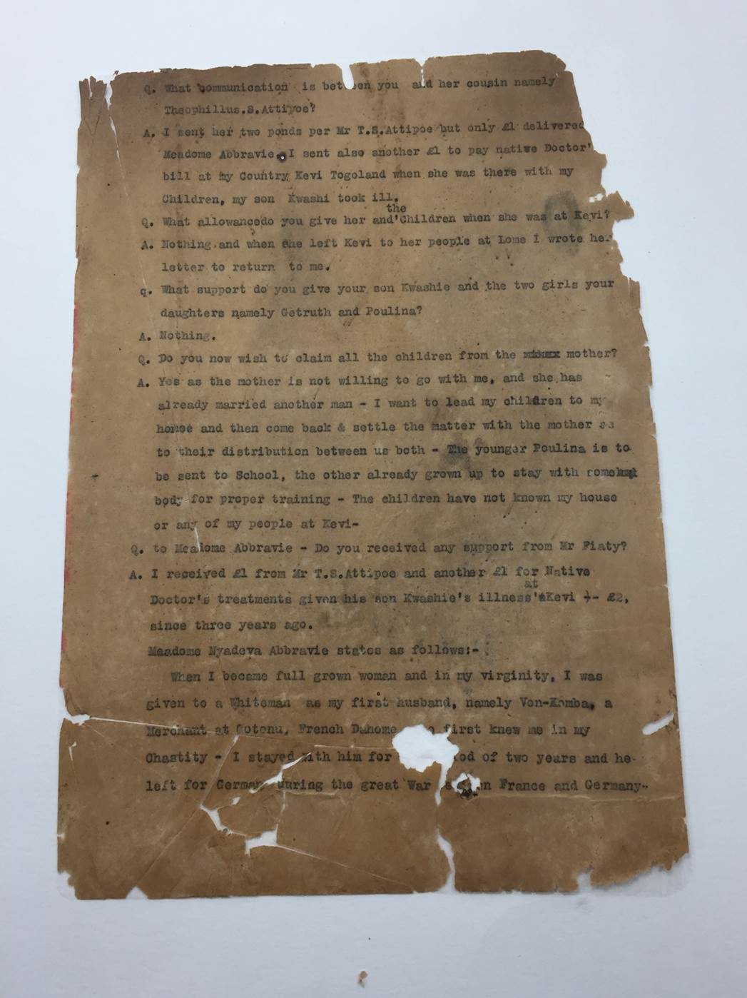 Document after consolidation