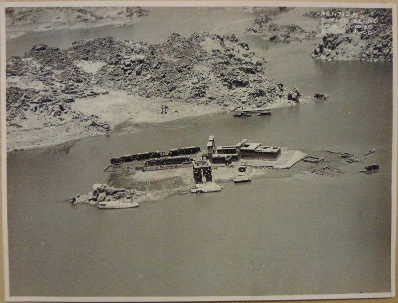 Aerial photograph showing Philae in 1931
