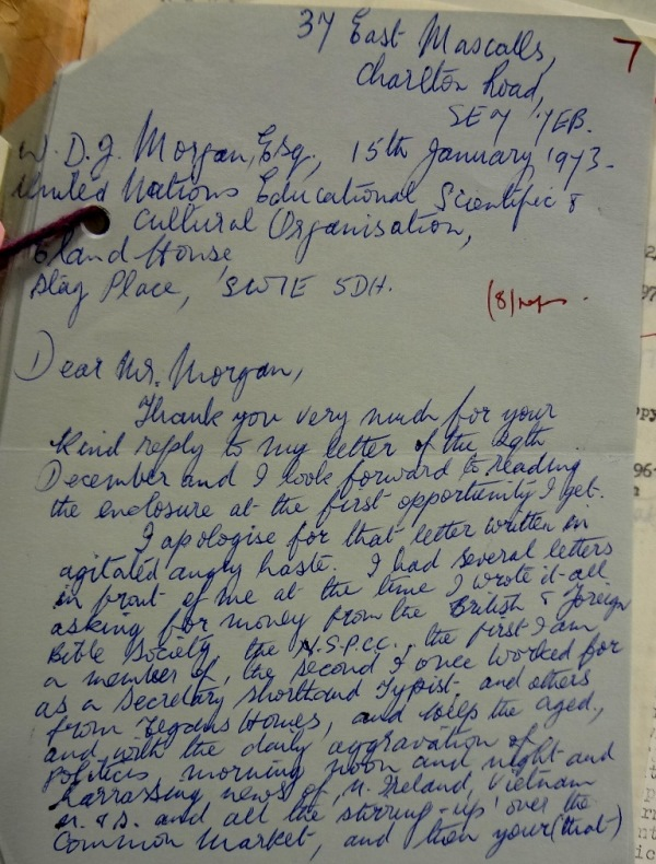 Gretta White's second letter, apologising for her first