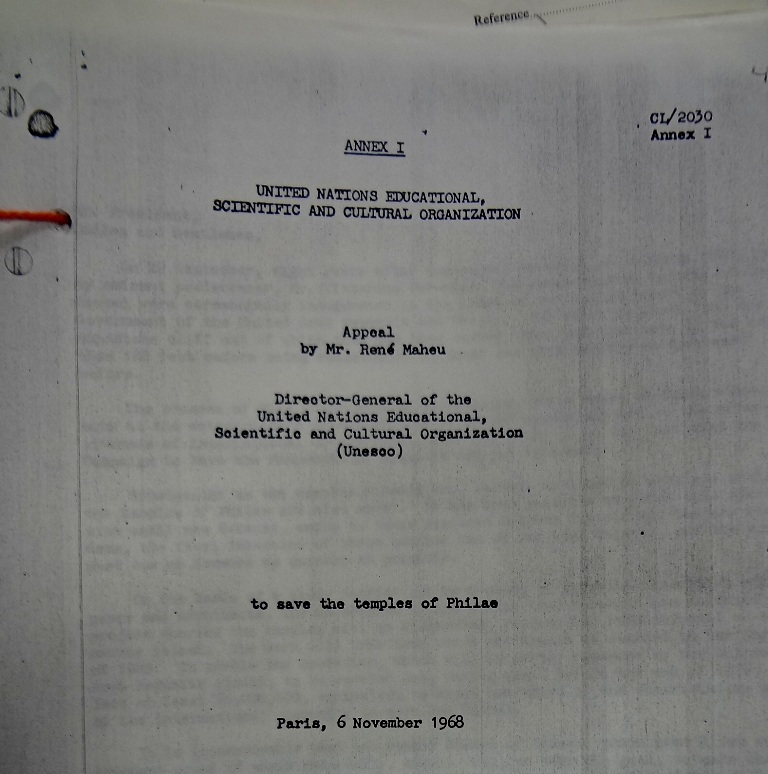 Title page of René Maheu's appeal