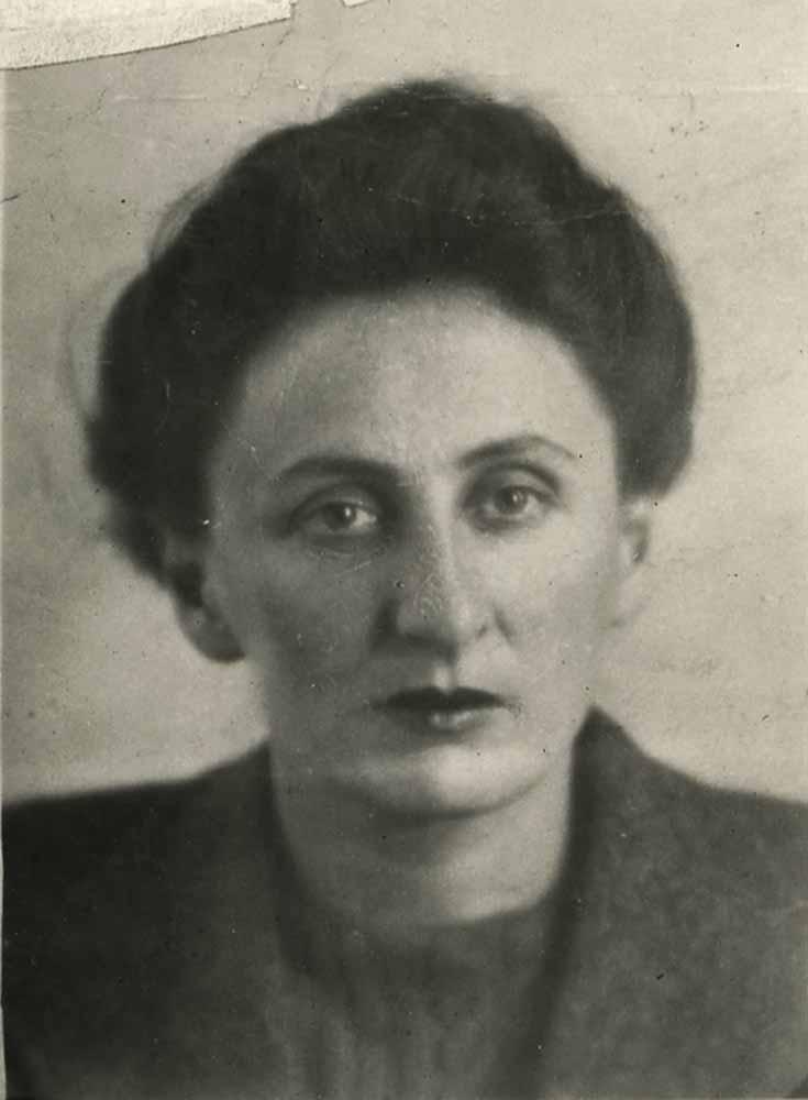 Black and white photograph of Bella Costello