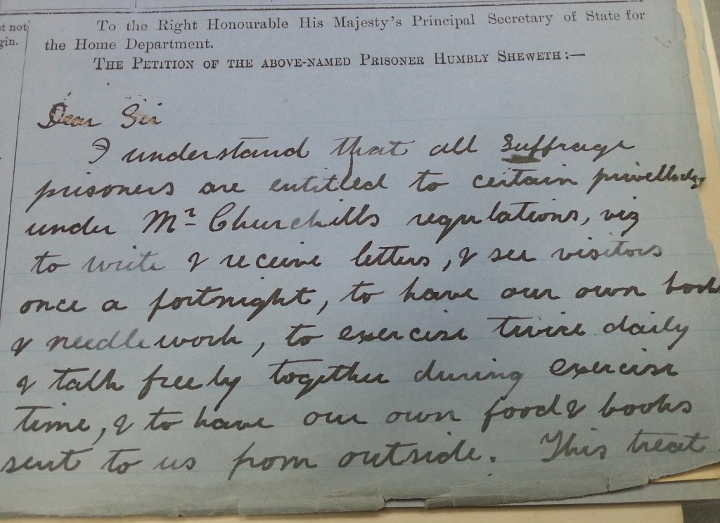 Example of a suffragette document Rosie Gunn used as a source of inspiration.