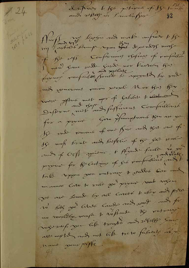 Henry VIII's letter to the commons of Lincolnshire, 1536