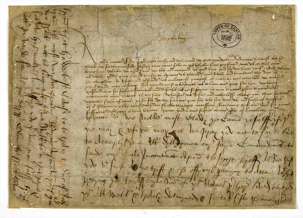 Warrant of Richard III concerning Buckingham's rebellion, 12 October 1483