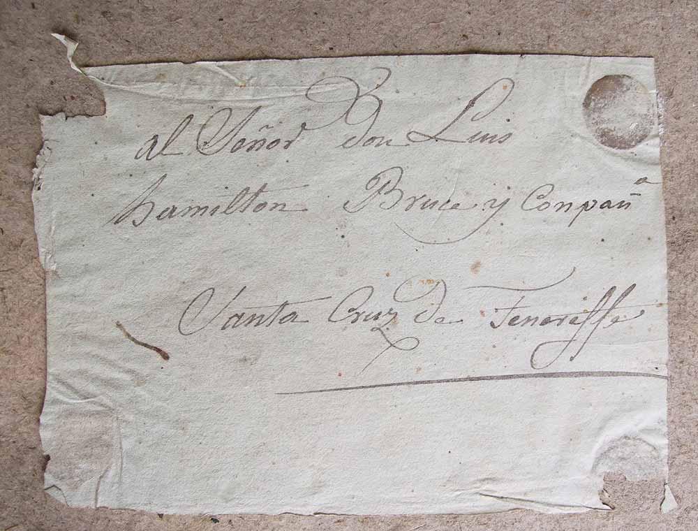 Handwritten label