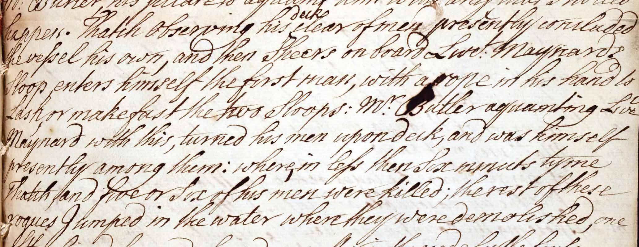 The hunt for Blackbeard, letters from Sir John Norris, 1718