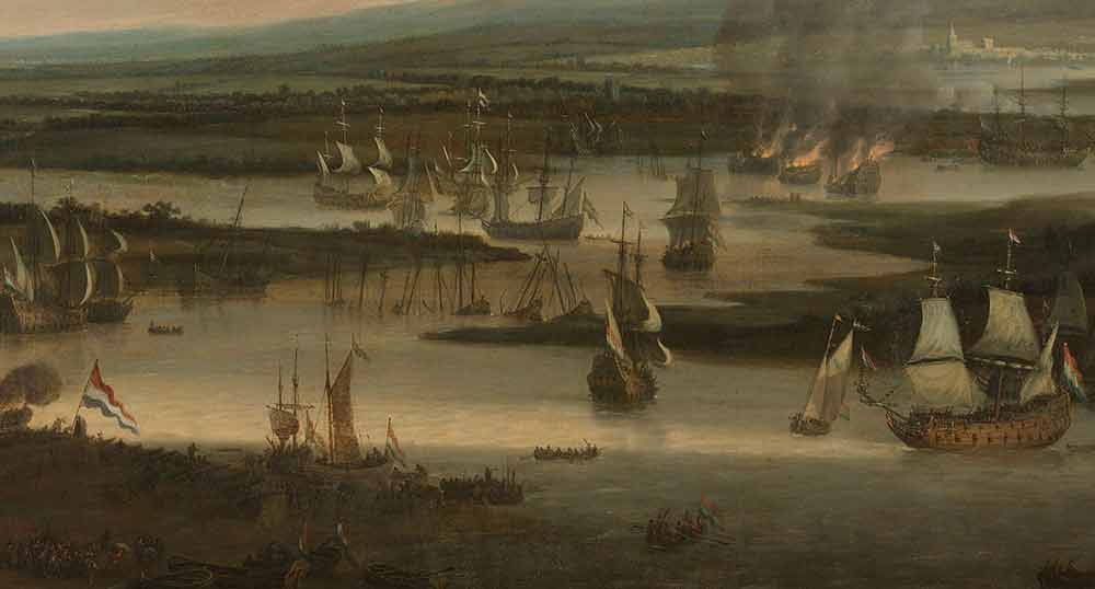 Burning of the English Fleet near Chatham