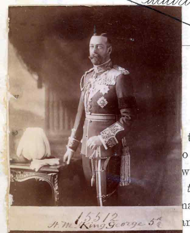 Black and white photograph of King George V