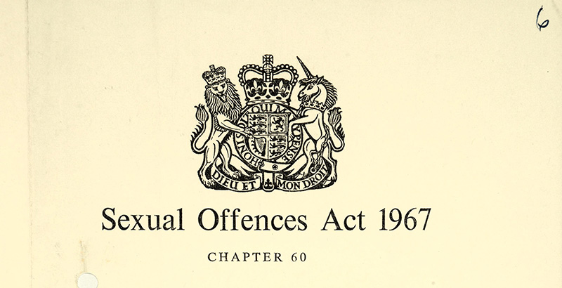 Image of the cover page of the 1967 Sexual Offences Act