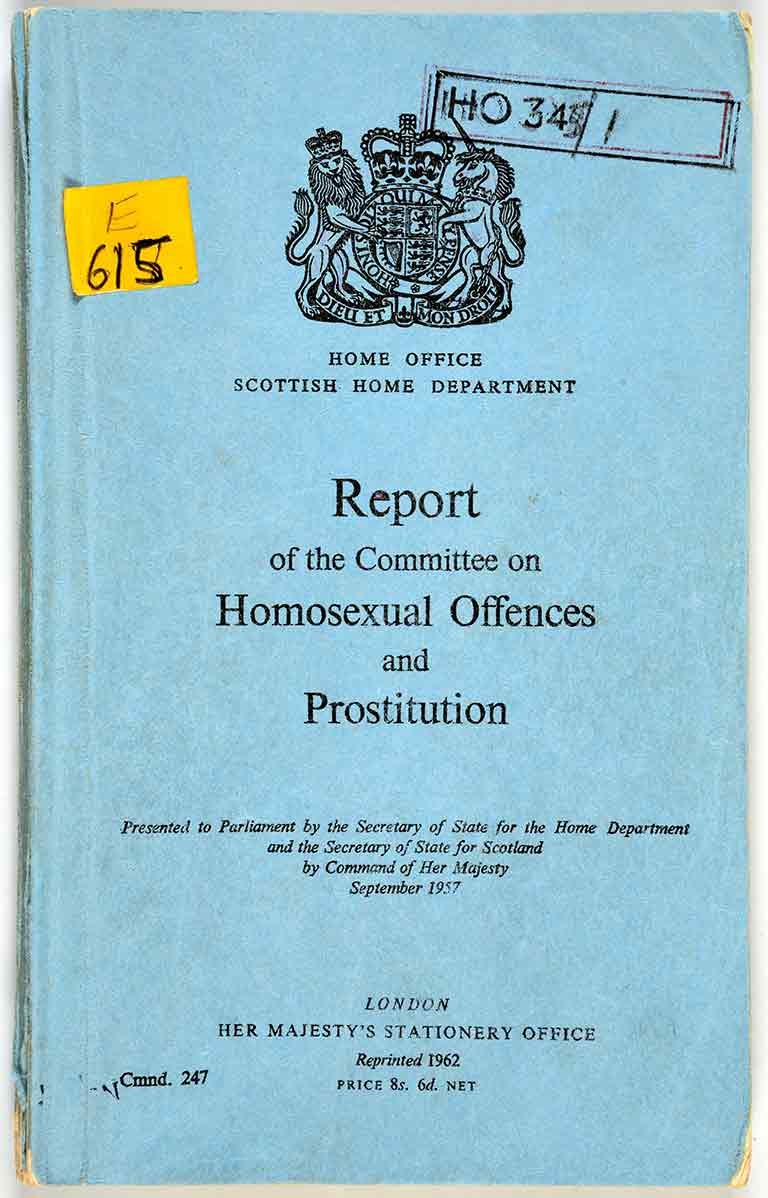 Front cover of the report on homosexual offences and prostitution