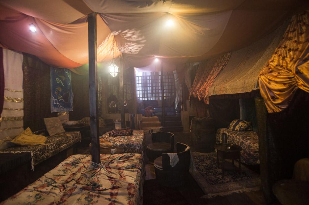 The interior of the Caravan, 2017 - Sophia Schorr