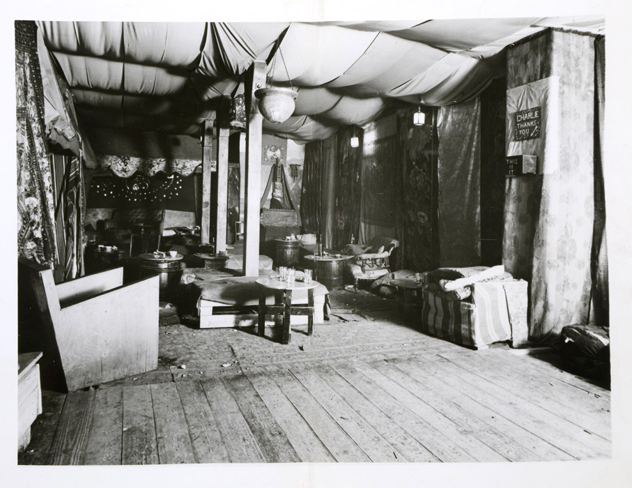 Police photograph of the interior of the Caravan, 1934: DPP2/224
