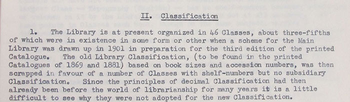 Meekings' assessment of the classification system in use in the Public Record Office Library in 1953