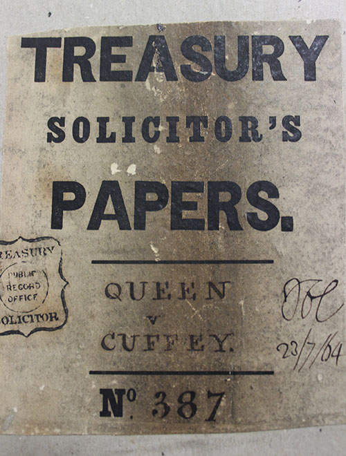 Treasury Solicitor's Papers for Cuffey's court case (TS 11/140/387)