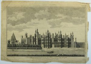 Print depicting Richmond Palace, 1765