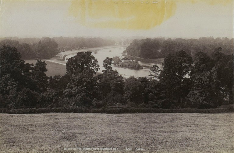 Photograph of the Thames from Richmond Hill, 1900