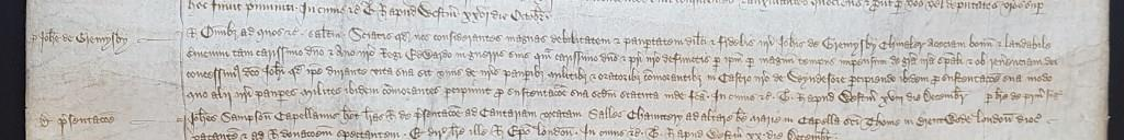Appointment of Sir John Grimsby as a poor knight of Windsor [catalogue reference: C 66/368 m. 7]