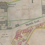 Details from a set of street plans of Richmond dated 1771