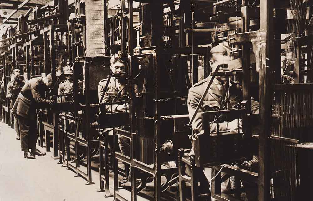 Punch card weaving in 1918-19