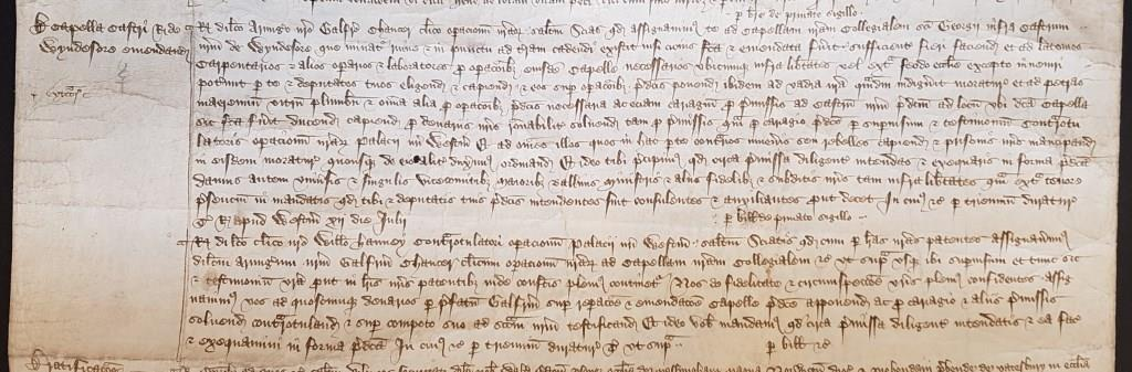 Chaucer's appointment as Clerk of the Works for St George's Chapel, Windsor, July 1390 [catalogue reference: C 66/331, m. 33]