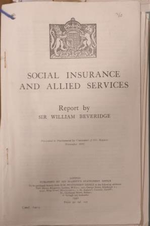 Frontispiece of the Beveridge Report, 1942. Catalogue reference: PREM 4/89/2