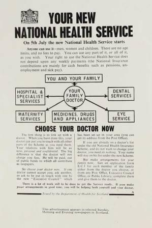 National Health Service Leaflet, 1948. Catalogue reference: INF 2/66