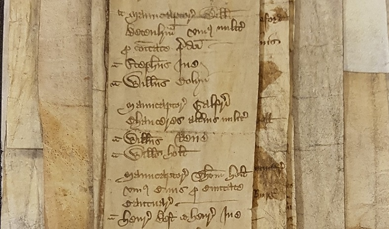Chaucer returned as one of two Knights of the Shire for Kent in 1386 [catalogue reference: C 219/9/1]