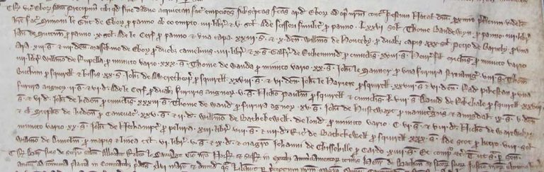 Payments to fur merchants on the Liberate roll (C62/28 m.13).