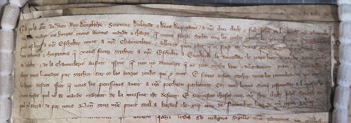 A writ from 1300 showing that Domesday was at York.