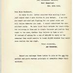 DPP1-23 Ex142 Letter from Amy Woodburn to Mrs Pankhurst 26 February 1912