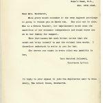 DPP1-23 Ex147 Letter from Lady Constance Lytton regarding schoolteacher 19 February 1912