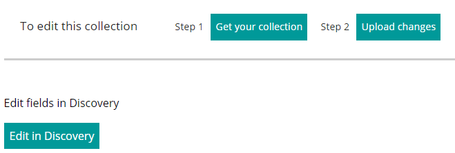 New 'Edit in Discovery' feature in Manage Your Collections