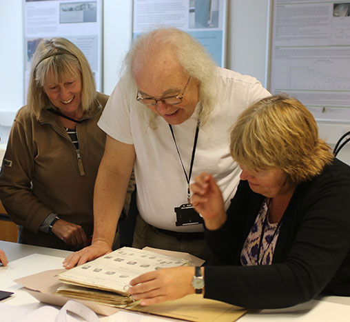 Volunteers surveying in Collection Care