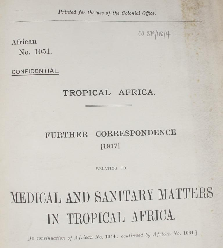 Despatches printed up and circulated within government as 'confidential print': CO 879/118/4, Africa, Confidential Print.